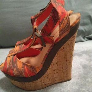 JustFab Women's Open Toe Wedge Size 9